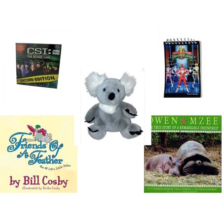 Children's Gift Bundle [5 Piece] -  CSI: Crime Scene Investigation Encore Edition The Board  - 1993 Mighty Morphin Power Rangers Notepad - Build A Bear  Koala Bear 12
