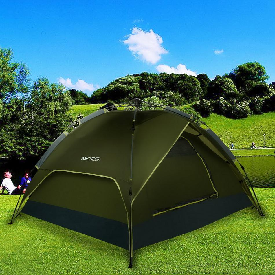 4-Person Dual layer Waterproof Dome Hiking Camping Tent WCYE by