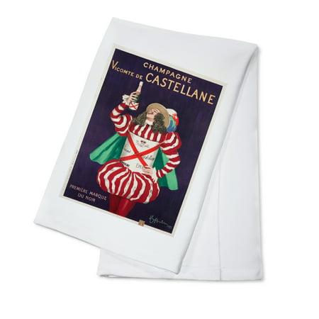 Champagne Vicomte de Castellane Vintage Poster (artist: Cappiello, Leonetto) France c. 1922 (100% Cotton Kitchen -