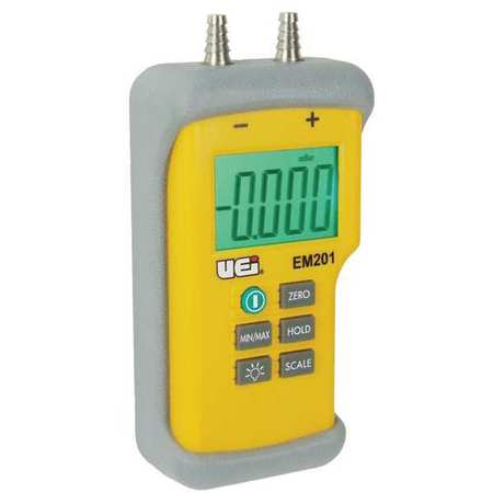 UEI TEST INSTRUMENTS Digital Manometer,-60 to +60 In.WC E...