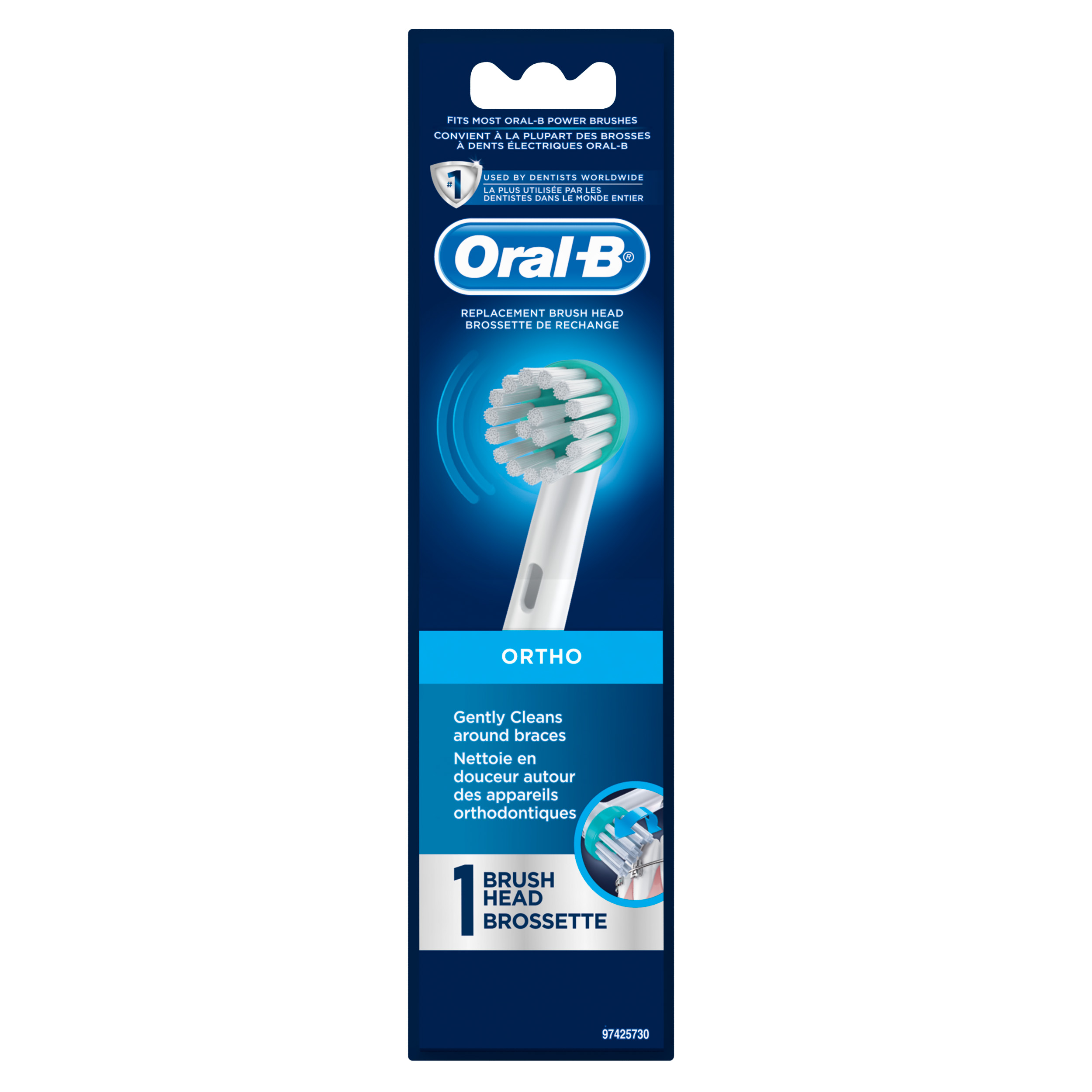 Oral-B Ortho Electric Toothbrush Replacement Brush Head, 1 Count