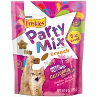 Friskies Cat Treats, Party Mix California Crunch With Chicken, 6 oz. Pouch