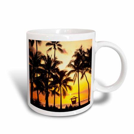 3dRose Waikiki Oahu Hawaii - US12 DPB0981 - Douglas Peebles, Ceramic Mug, 11-ounce