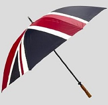 Great British Golf Umbrella Union Flag (Union Jack) Design.