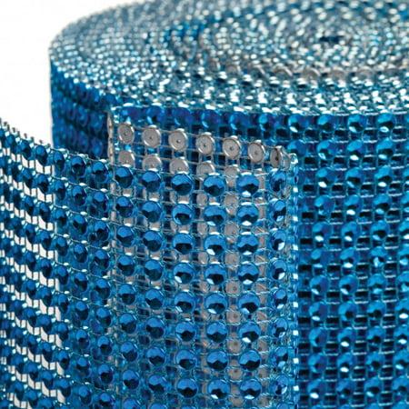 Wholesale Ribbon (Koyal Diamond Rhinestone Ribbon Wrap Roll, 10-Yard, Royal)