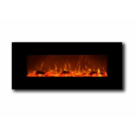 Touchstone 80001 Oynx Black 50 Wall Mounted Electric Fireplace