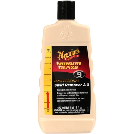 Meguiar's Mirror Glaze Swirl Remover 2.0 – Cleaner/Polish Removes Fine Swirls  – M0916, 16 oz