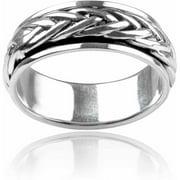 Men's Sterling Silver Spinner Braid Ring