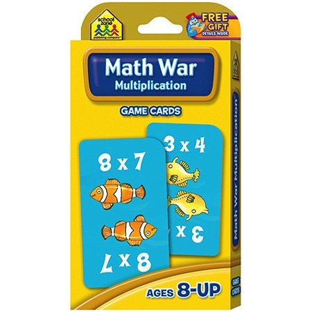 Game Cards Multiplication Math War