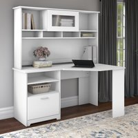 Bush Furniture Cabot 60W Corner Desk with Hutch