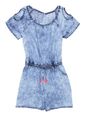81b34e69002 Product Image Cold Shoulder Chambray Romper (Little Girls