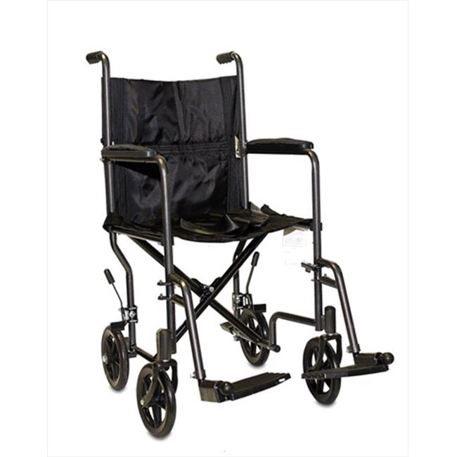 ProBasics 0005 17 inch Steel Transport Chair With Seat Belts