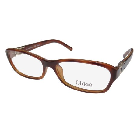 New Chloe 2621 Womens/Ladies Designer Full-Rim Havana / Gold Glamorous Modern Fashion Accessory Frame Demo Lenses 54-15-135 Eyeglasses/Eyewear