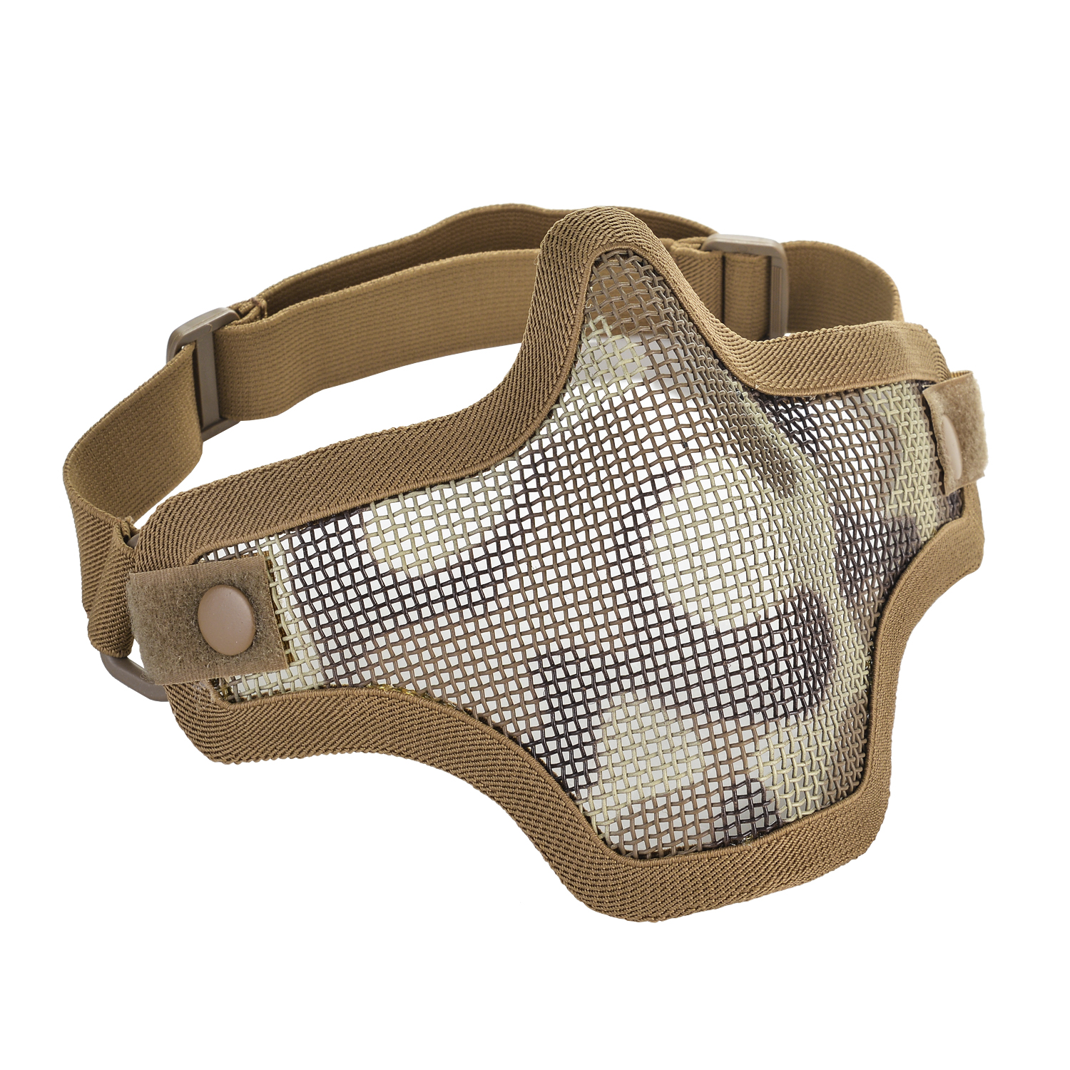 IMage Half Face Mask Tactical Strike Metal Mesh Protective Lower Mask Tan by