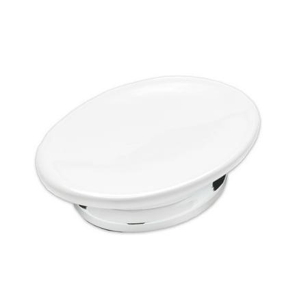 Chrome Bath Collection (Popular Bath Phoenix White & Chrome Bath Collection Soap Dish Hand Crafted )