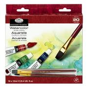 Royal & Langnickel Watercolor Paint, 18 Pack w/Brushes
