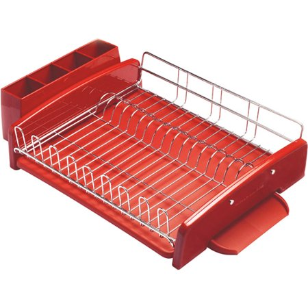 Kitchenaid 3 piece dish dryer rack red - Kitchenaid dish rack red ...
