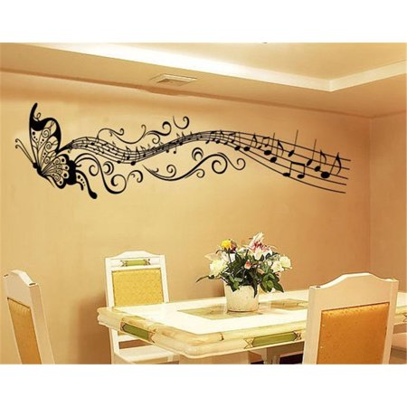 - Home Decor Wall Room Butterfly Music Notes Removable Decal Sticker Art Mural
