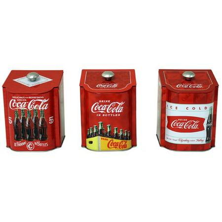 - Tin Box Company Coca-Cola Tin qt. Kitchen Canister (Set of 3)