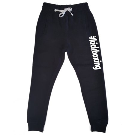 Men's #Kickboxing Black Fleece Gym Jogger Sweatpants 2X-Large Black