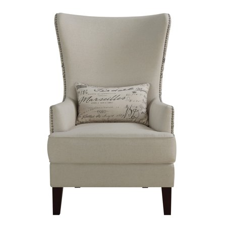 Coaster Accent Chair In Cream, French Script Writing by Coaster Company