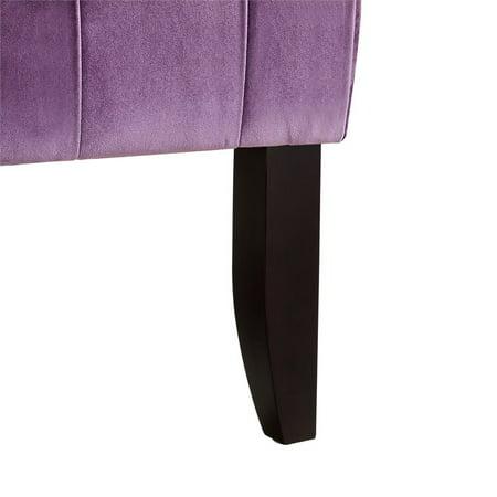 Brilliant Adrian Purple Velvet Accent Chair Armless Slipper Button Machost Co Dining Chair Design Ideas Machostcouk