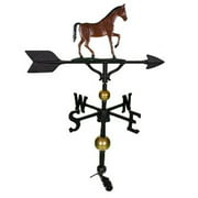 Montague Metal Products WV-356-NC 300 Series 32 In. Deluxe Color Gaited Horse Weathervane