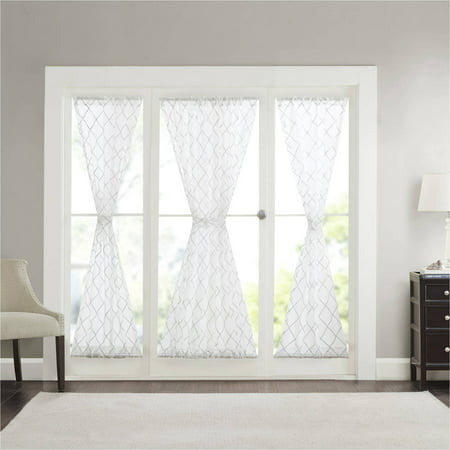 Home Essence Clarissa Diamond Sheer Door Panel, Polyester