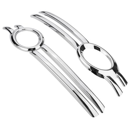 2Pcs Chrome Front Fog Bumper Grill Light Cover Trim Bezel Frame Garnish For Q5 2009-2012   - image 3 of 6
