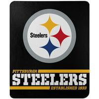Pittsburgh Steelers The Northwest Company 50'' x 60'' Split Wide Fleece Throw Blanket - No Size