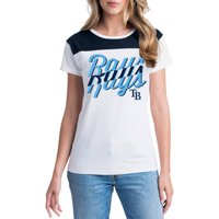 MLB Tampa Bay Rays Women's Short Sleeve White Graphic Tee