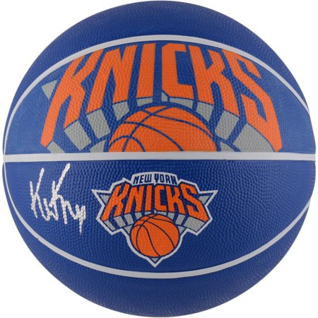 Kevin Knox New York Knicks Autographed Spalding Courtside Logo Basketball - Fanatics Authentic Certified