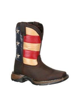 "Children's Durango Boot DBT0159 8"" Lil' Rebel Boot Gray 12 M"