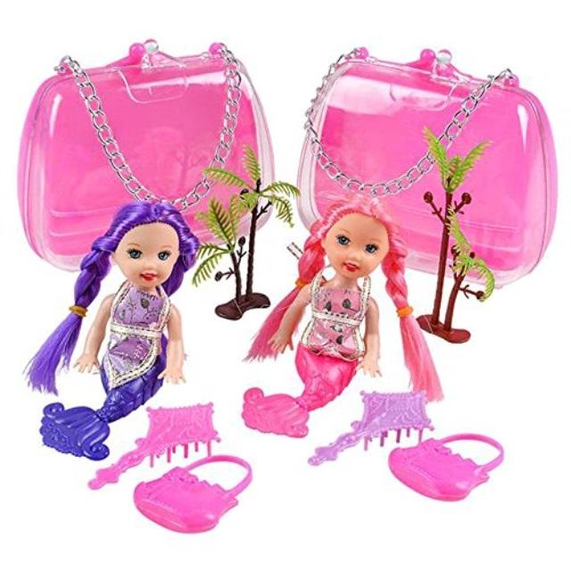 "Rhode Island Novelty 5"" Mermaid Doll Set, 2 Setsper Order"