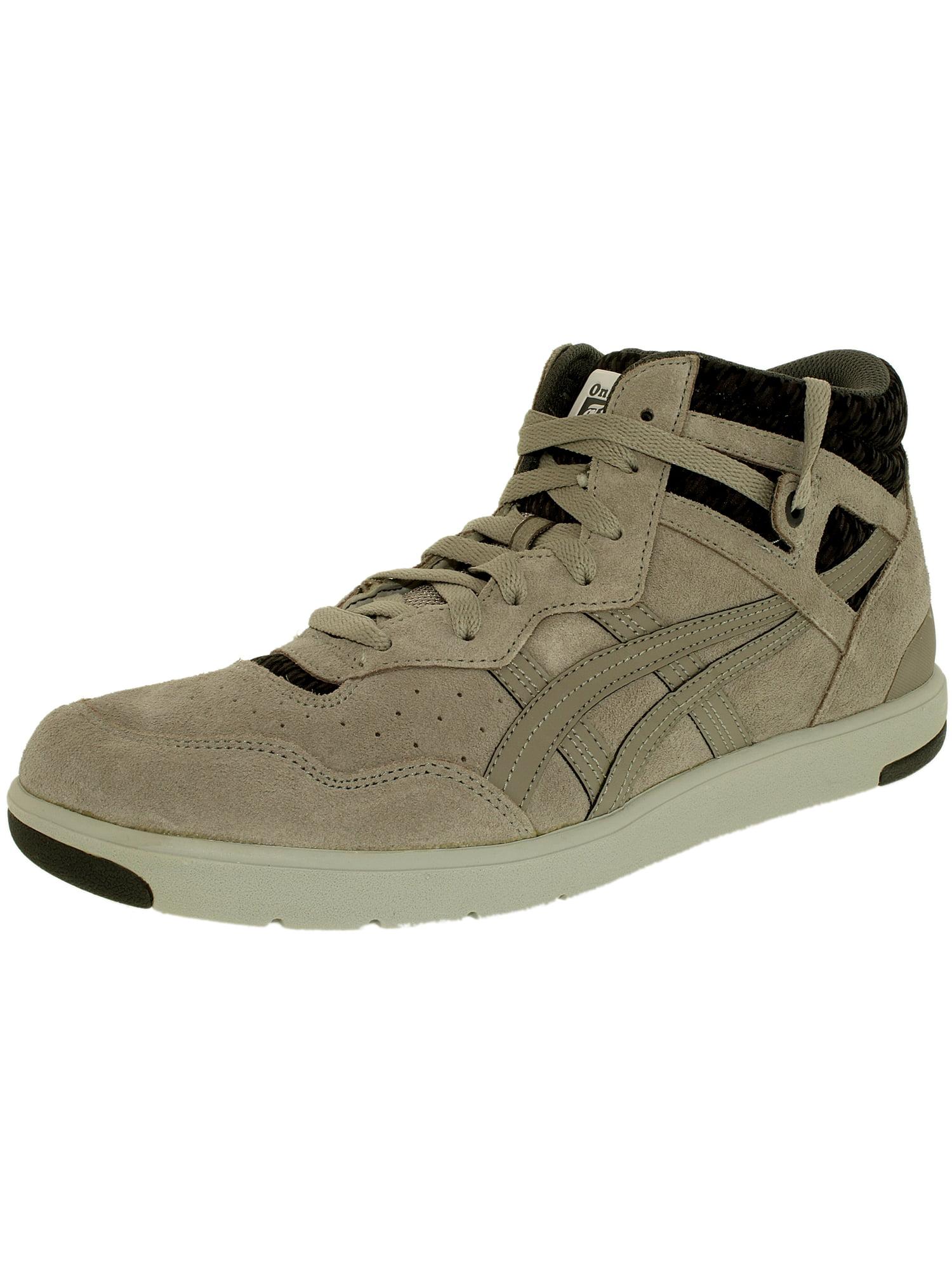 Onitsuka Tiger Women's Tustin Light Grey/Light Grey Ankle-High Leather Fashion Sneaker - 9.5M