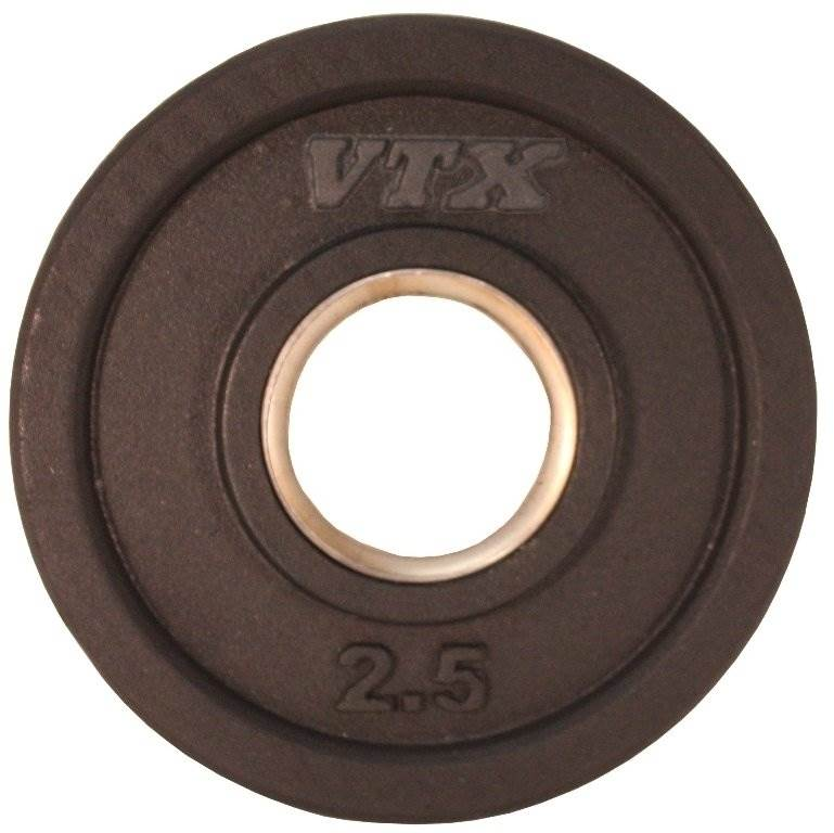 VTX Olympic Rubber Grip Weight Plate (6.5 in. Dia x 1 in. H (2.5 lbs.))