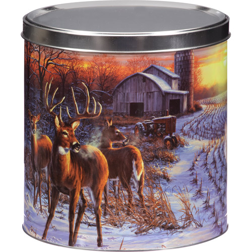 Deer Sunset Assorted Popcorn Tin Gift, 24 oz