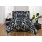 Mainstays Reversible Tropical Camo 5-7 Piece Bed in a Bag Bedding Set