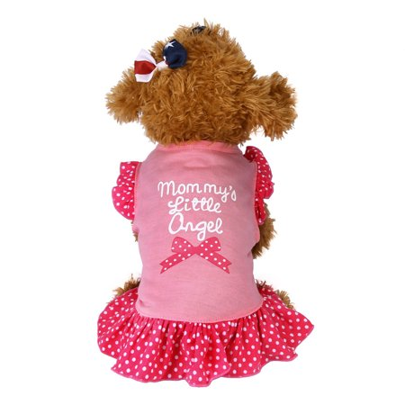 Summer Cute Pet Puppy Small Dog Cat Pet Dress Apparel Clothes Fly Sleeve Dress