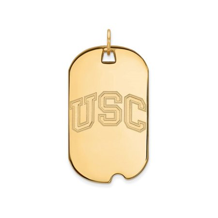 Logoart Sterling Silver Gp University Of Southern California Large Dog Tag Pendant