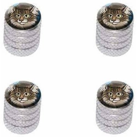 Maine Coon Cat Pet Tire Rim Wheel Aluminum Valve Stem Caps, Multiple Colors ()