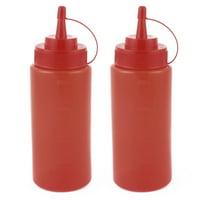 2Pcs 400ml Kitchen Plastic Squeeze Bottles Condiment Ketchup Mustard Oil Salt