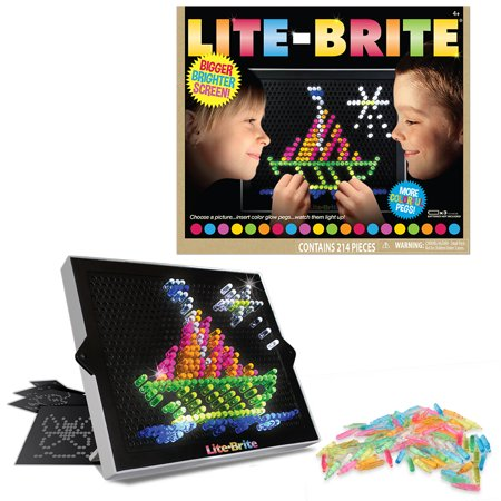 Lite Brite Ultimate Classic – With 6 Templates and 200 Colored Pegs](Kids Crate)