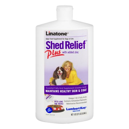 - Lambert Kay Linatone Shed Relief Plus for Dogs & Cats, 32 oz.