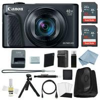 Canon Powershot SX740 HS 4K Video Digital Camera Black + Advanced Bundle