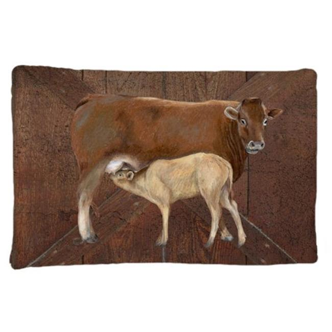 Carolines Treasures SB3074PILLOWCASE Cow Momma And Baby Moisture Wicking Fabric Standard Pillowcase - image 1 of 1