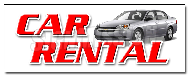 "36"" CAR RENTAL DECAL sticker auto rent daily weekly automobil low rate by SignMission"