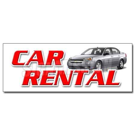 36  Car Rental Decal Sticker Auto Rent Daily Weekly Automobil Low Rate