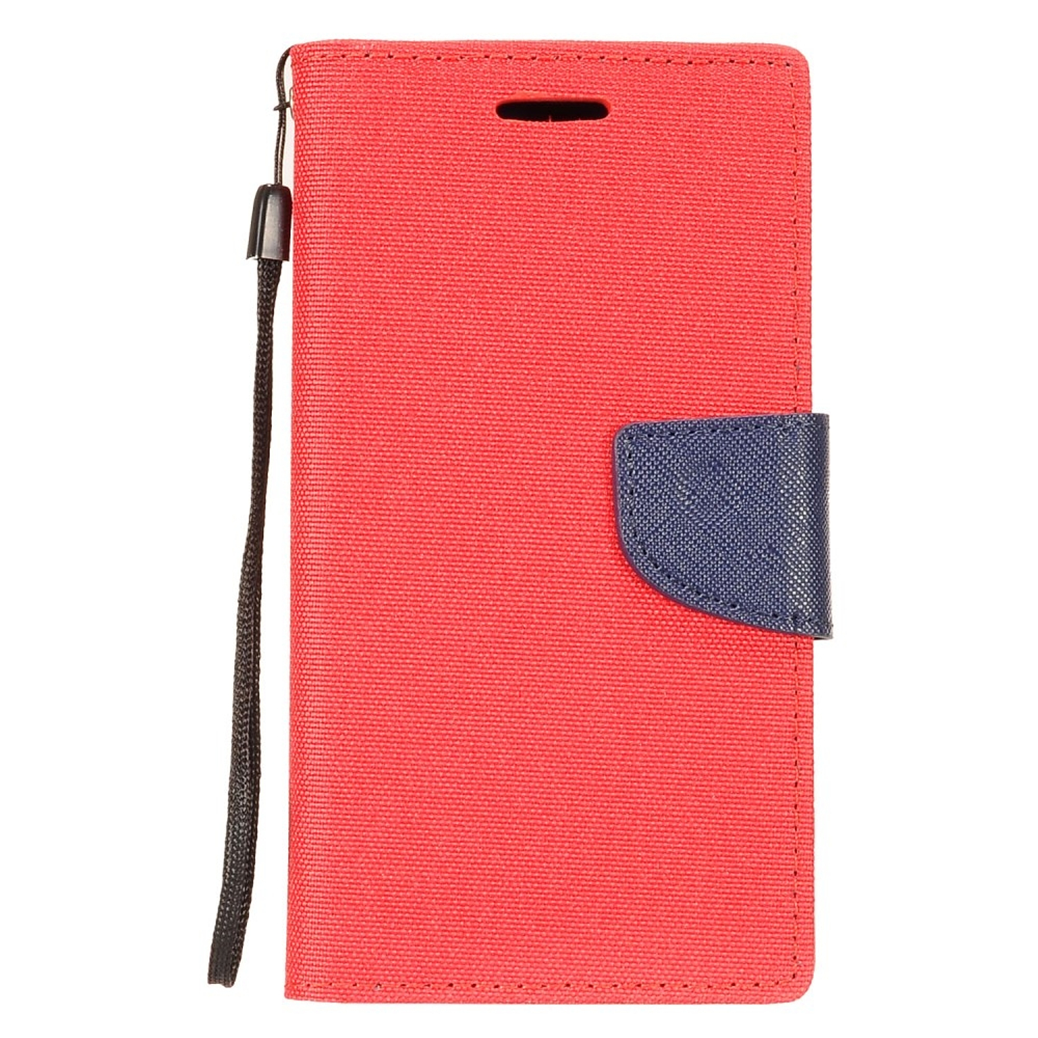 Alcatel Revvl Plus Phone Case by Insten Denim Fabric Folio Flip Leather Case Stand Cover [ID Credit Card Holder Slot] Wallet Pouch For Alcatel Revvl Plus
