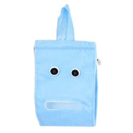 Unique Bargains Home Button Accent Plush Paper Facial Tissue Napkin Dispenser Holder Blue